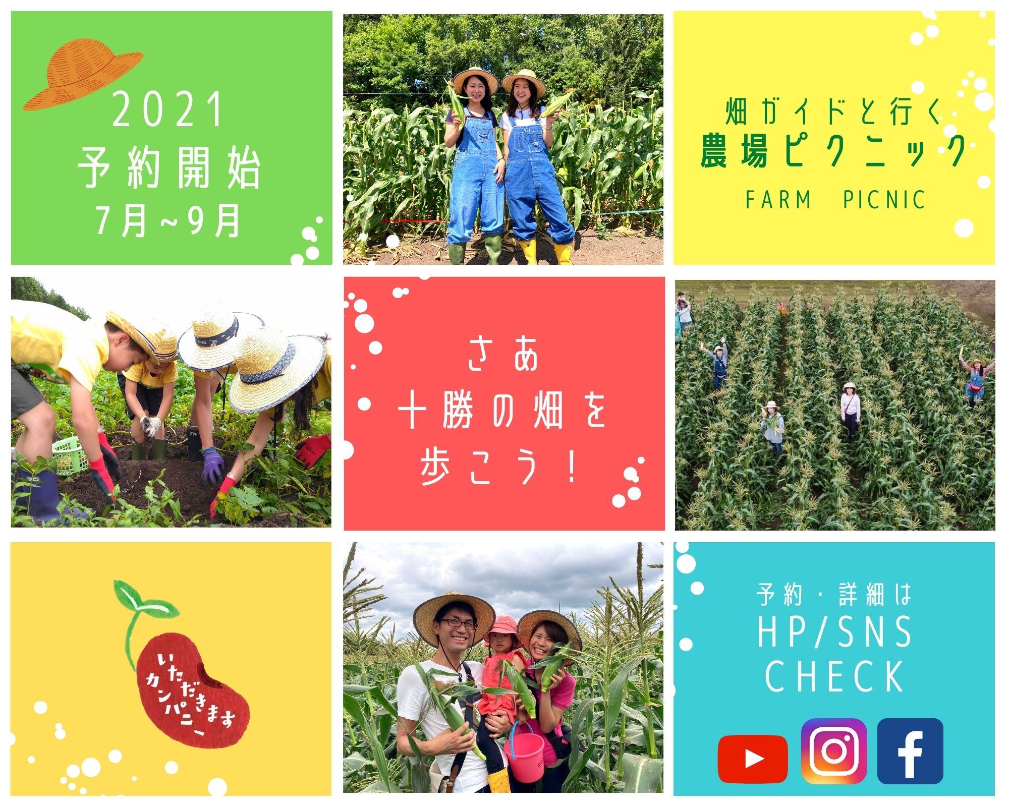2021年畑ガイドと行く農場ピクニック予約開始!